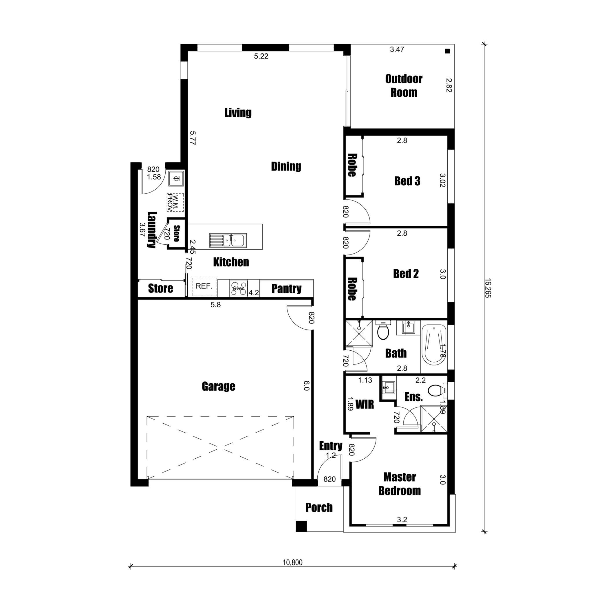 100 Balmoral House Plan Three Balmoral 6100 7705